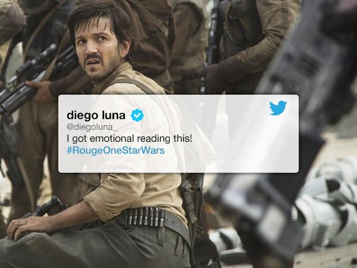 Rogue One Star Diego Luna Shares Fan's Touching Response To The Film