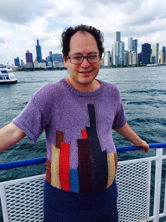 Guy Makes Sweaters Of Specific Places Then Wears Them To Those Places