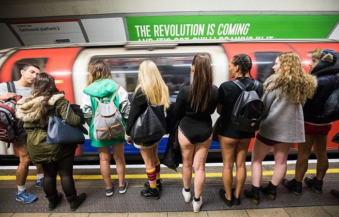 Subway Riders Around The World Enjoy No Pants Day