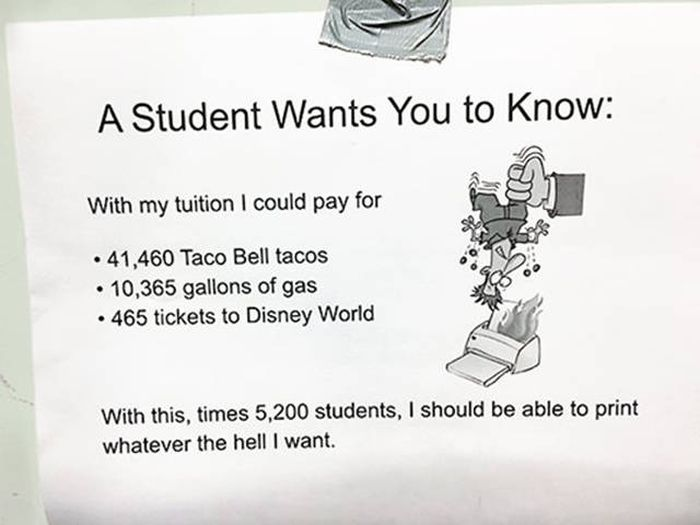 Student Owns His College Administration's Greedy Policy