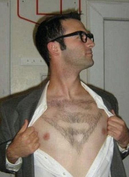 Clever Men Get Creative With Their Body Hair