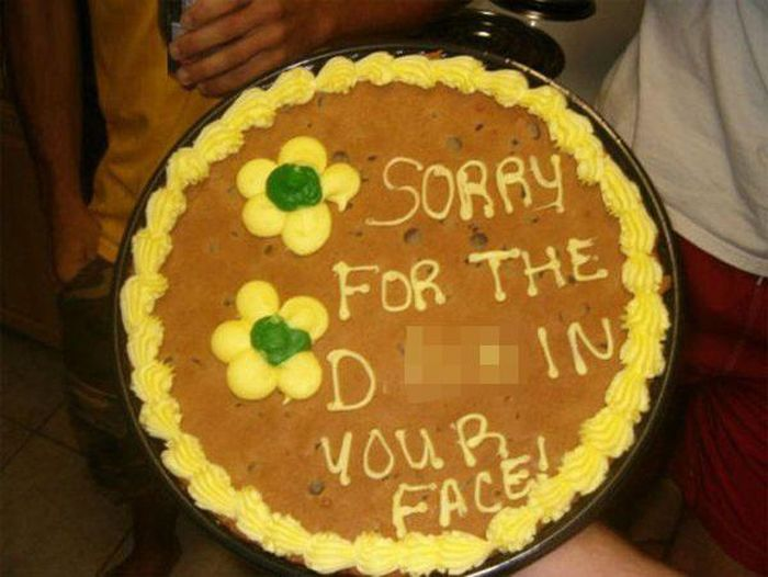People Who Used A Cake To Say Sorry For Sexual Misdeeds