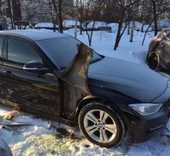 Headlight Cleaning System Stolen From A BMW