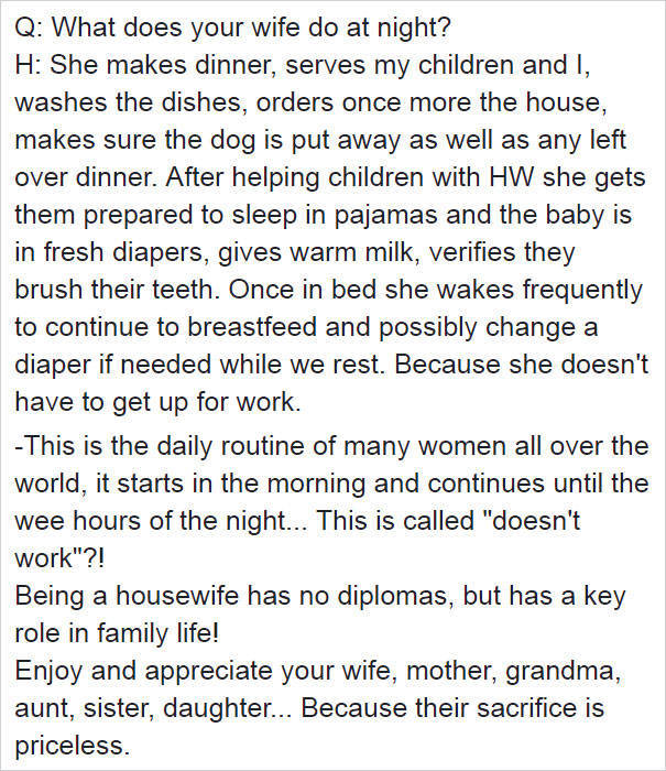 Inside The Life Of A Stay At Home Wife