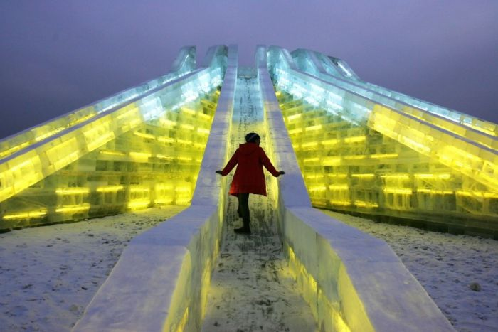 There Is An Entire City Made Out Of Ice In China
