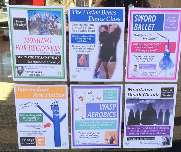 Someone Added Hilarious Fake Dance Classes To A Local Dance Studio