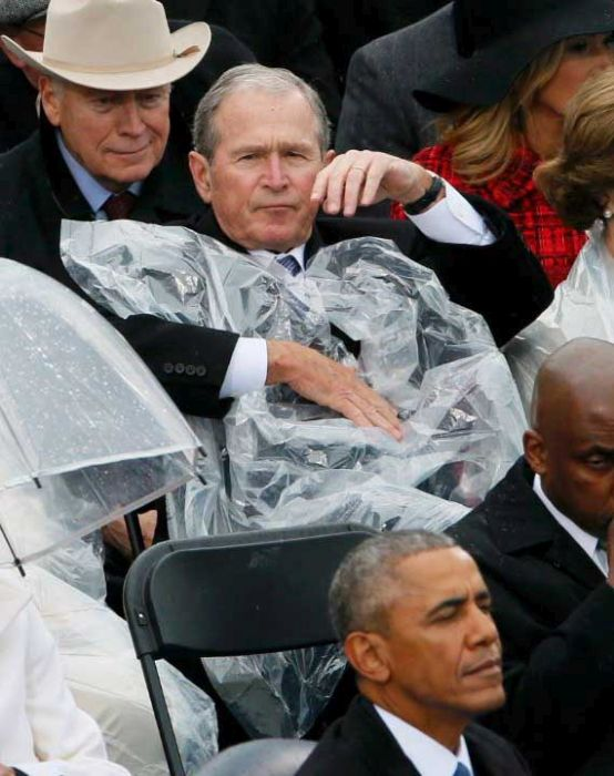 George Bush Was The Star Of The Show At Donald Trump's Inauguration