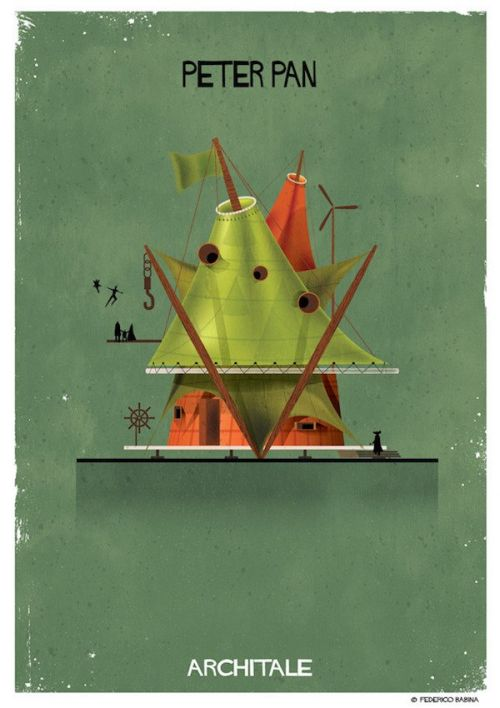 Architect Imagines The Homes Of Fairy Tale Characters