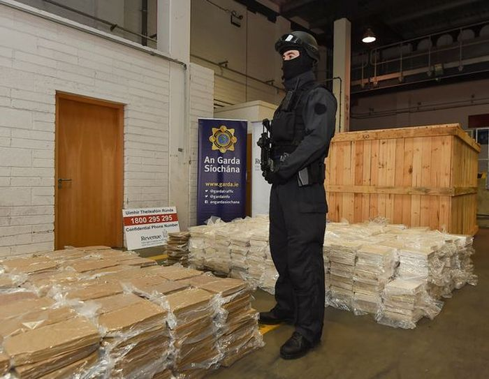 Irish Police Discover A Massive Marijuana Stash Hidden In Farm Equipment