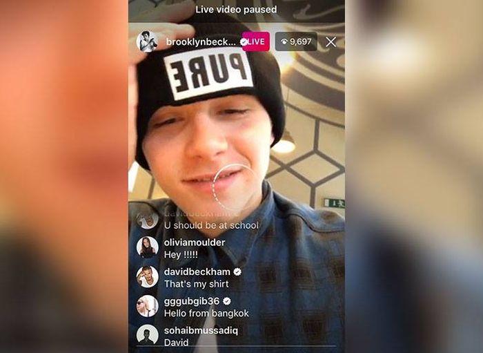 David Beckham Trolls His Son On Instagram