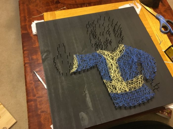 How To Make A Fallout Vault Boy Nail Board From Start To Finish