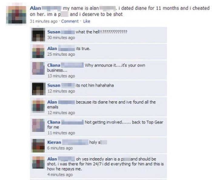 Angry People Expose Their Cheating Lovers On Facebook