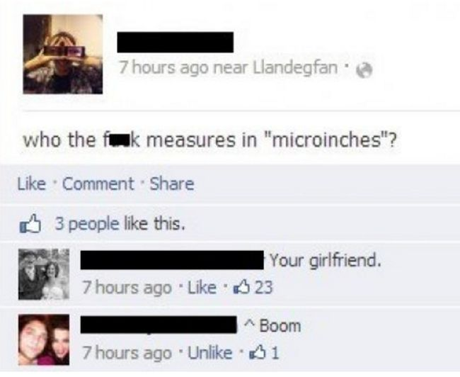 Facebook Users Who Walked Right Into A Brutal Burn