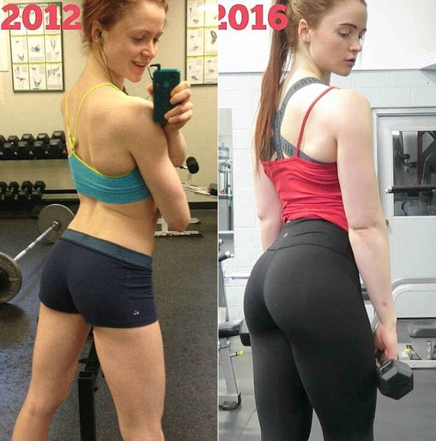 Girl Shows Off Her Gorgeous Body Before And After Going To The Gym