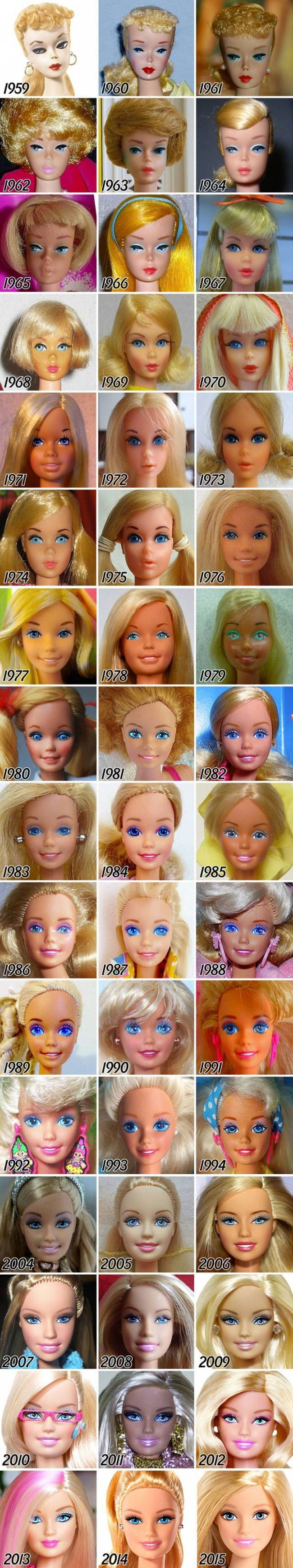 Looking Back On The Evolution Of Barbie