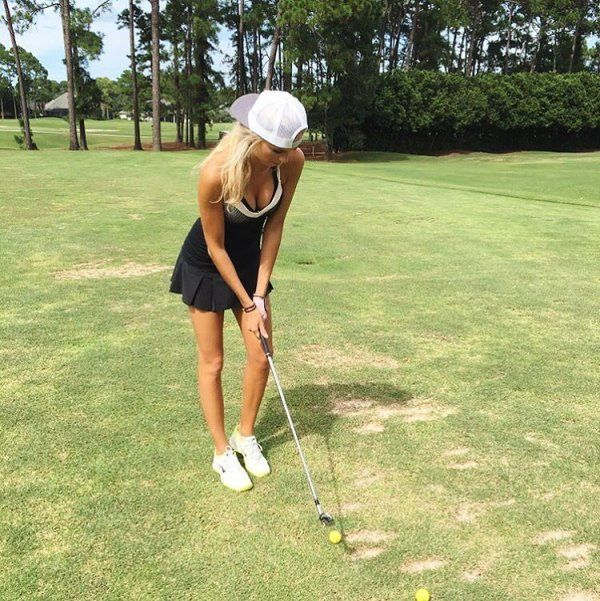 Pretty Golf Girl Elise Lobb