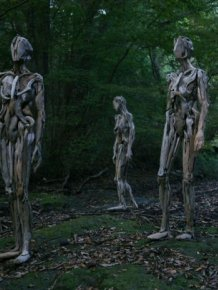 These Driftwood Sculptures By Japanese Artist Nagato Iwasaki Are Haunting