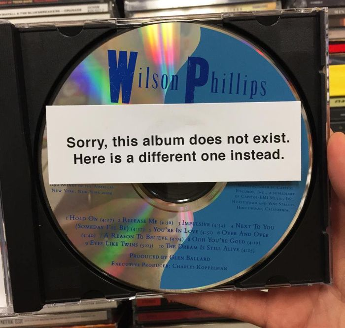 Guy Places Fake Music Albums In A Local Music Store