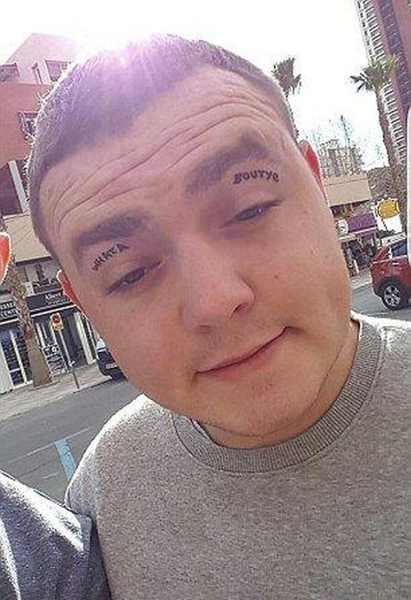 Guy Returns From Drinking Binge With Tattoos On His Eyelids