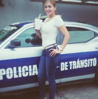 This Gorgeous Mexican Policewoman Could Engage In Some Hot Pursuits