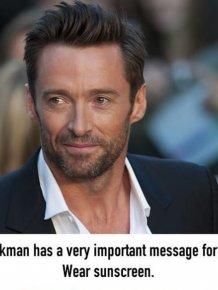 Hugh Jackman Warns Fans To Wear Sunscreen