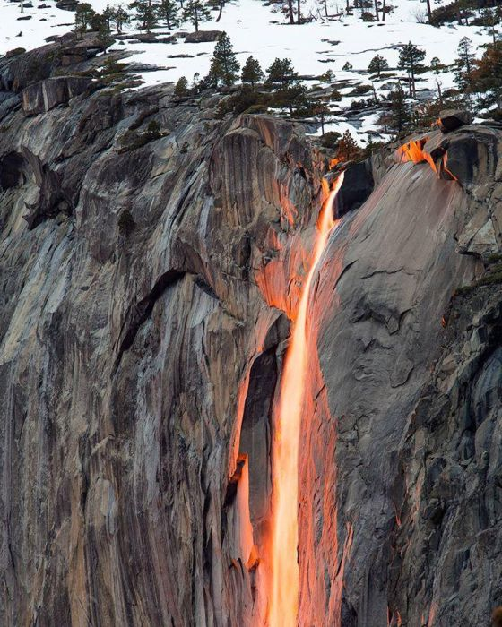 Incredible Photos Show A Waterfall Of Fire