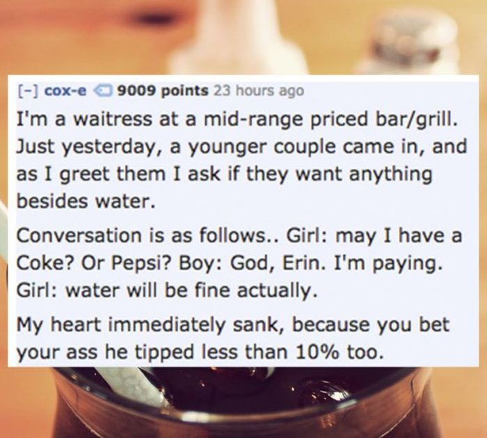 Waiters Reveal The Worst Dates They've Ever Witnessed