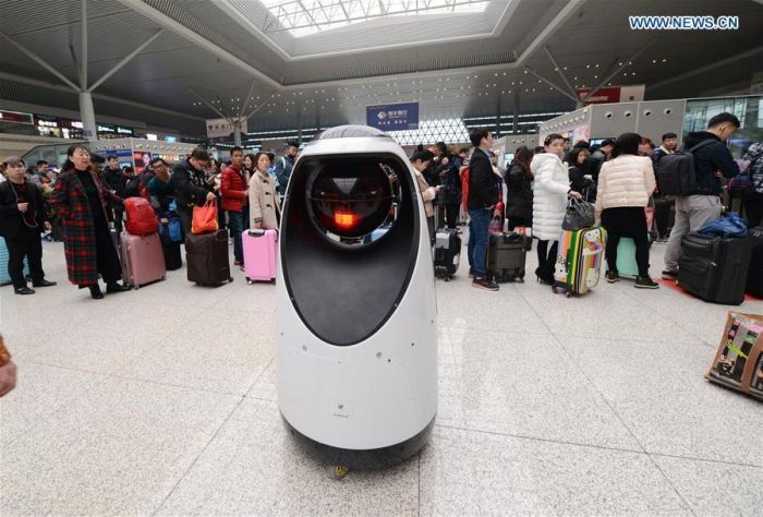Robot Policeman On Duty In China