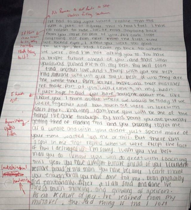 Guy Grades A Ridiculous Apology Letter From His Ex