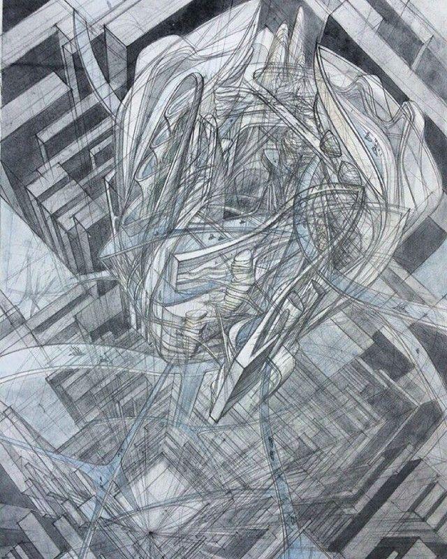 Impressive Architectural Sketches Show A University Student's Talent