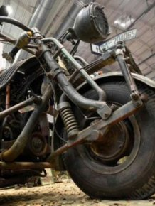 The World's Largest Motorcycle Has An Engine From A Soviet Tank