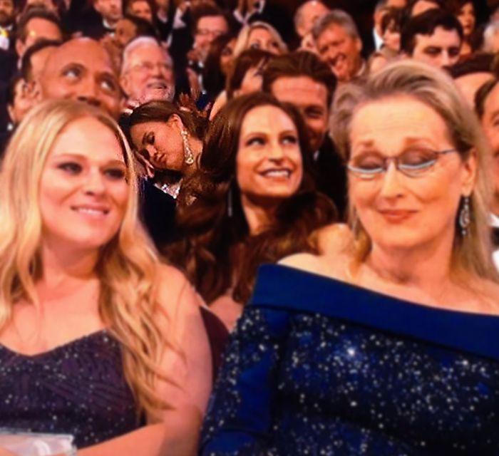 Model Chrissy Teigen Falls Asleep At The Academy Awards