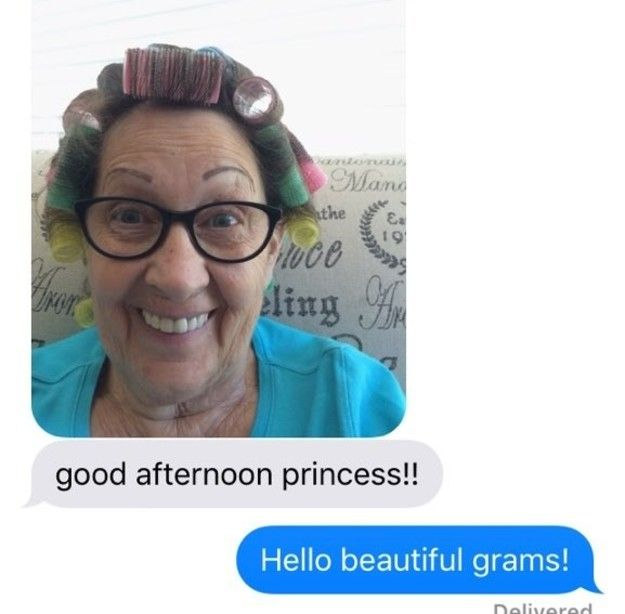 This Grandmother Sends Her Granddaughter Hilarious Selfies
