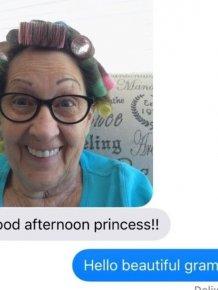 This Grandmother Sends Her Granddaughter Hilarious Selfies
