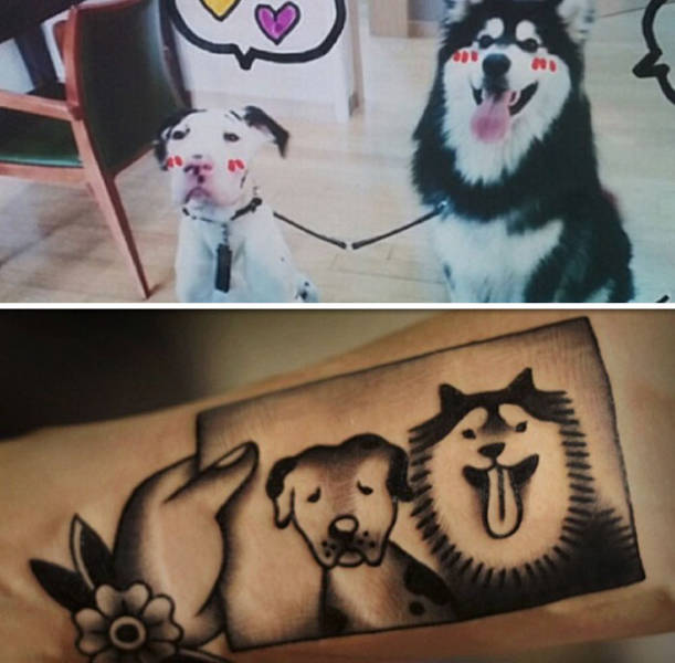 People Share Adorable Tattoos Of Their Own Pets