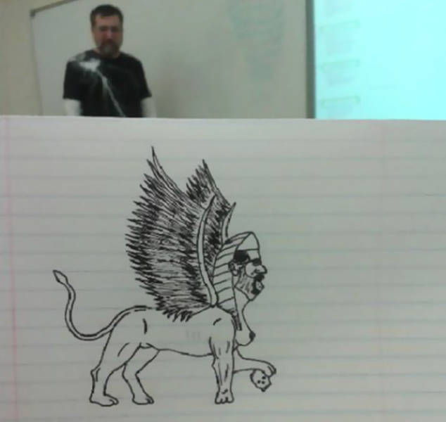 Artist Draws Interesting Pictures Of Their Professor