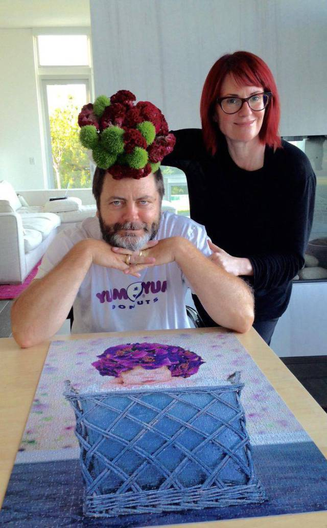 Nick Offerman And Megan Mullaly Prove They're The Perfect Couple
