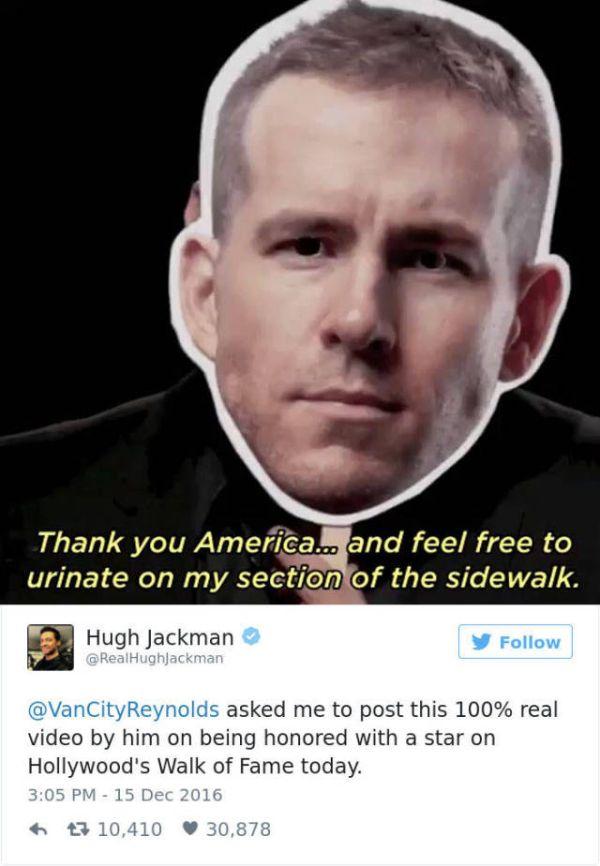 Ryan Reynolds Just Loves To Troll Hugh Jackman On Twitter