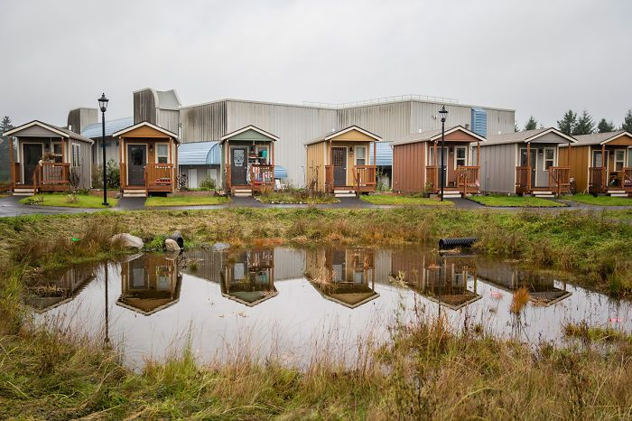 City Builds Tiny Village With Free Houses For Homeless Veterans