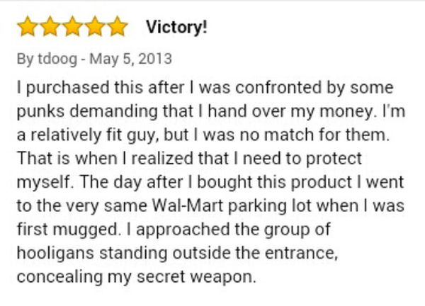 Guy Leaves Amazing Review For Stun Gun On Amazon