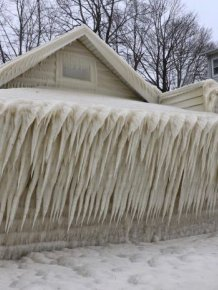 This House Is Completely Frozen In Ice