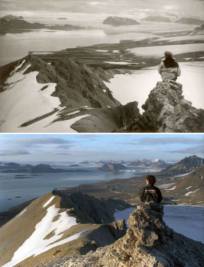 Shocking Photos Show 100 Years Of Climate Change In The Arctic