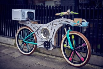 This Bike Was Constructed Using Kitchen Utensils