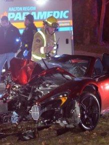 Man Crashes McLaren Spider In Burlington