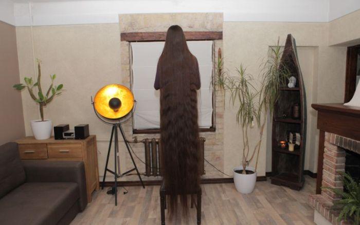 Latvian Rapunzel's Hair Is Insane