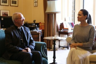 Angelina Jolie Forgot To Wear A Bra When She Met The Archbishop Of Canterbury