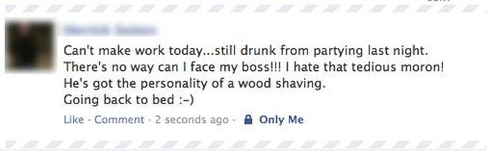 Drunk Facebook Status Updates You're Glad You Didn't Post