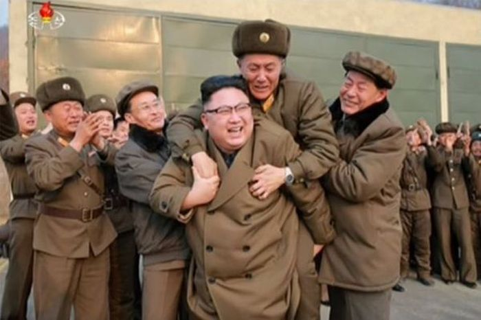 Kim Jong-Un Gives A Soldier A Piggyback Ride