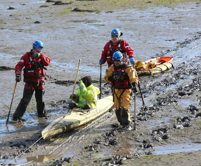 Kayaker Gets Trapped In Southhampton