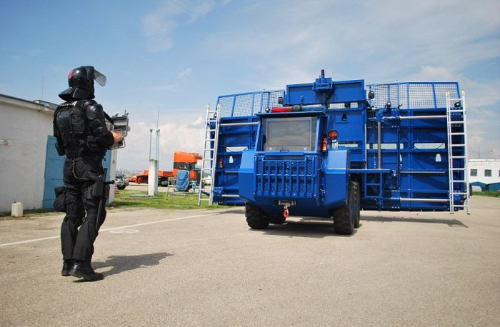 Don't Get In The Way Of This Anti-Riot Vehicle